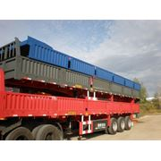Бортовой полуприцеп контейнеровоз, 60 тонн