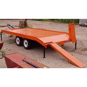 Прицеп низкорамный для перевозки спецтехники и оборудования массой до 4,5 тонн с аппарелями