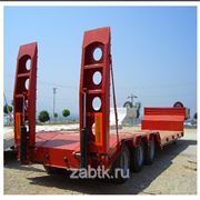 Three axle low bed semitrailer фото