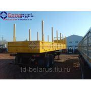 полуприцеп-сортиментовоз бортовой с кониками грузоподъемностью 30 тонн фото