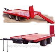 Прицеп платформа с трапами, для перевозки спецтехники и оборудования массой до 6 тонн фото