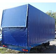 Тентованный прицеп с гидравлическим приводом заездного трапа, для перевозки спецтехники, ГНБ до 9 тонн фото