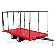 Прицеп трал с каркасом под тент и трапами, для перевозки спецтехники и оборудования массой до 6 тонн