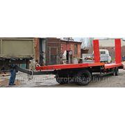 Низкорамный трехосный прицеп трал, для спецтехники и ГНБ до 12 тонн с поворотной осью фото