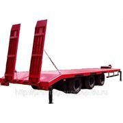 Прицеп платформа с трапами г/п 21 тонн, для перевозки спецтехники и ГНБ фото