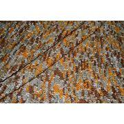 Трикотаж набивной коричнево - желтый фото
