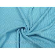 Ткань Трикотаж вязаный голубой