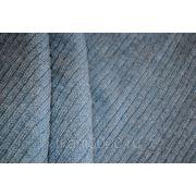 Трикотаж однотонный серо - синий ( чулком) фото