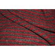 Трикотаж набивной красно - серый фото