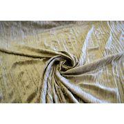 Бархат-стрейч мраморный, крэш, желто - коричневый фото