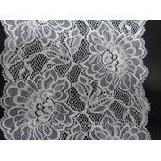 Кружево эластичное белое 16.5 см. фото