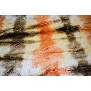 Бархат-стрейч мраморный, крэш, оранжевые тона фото