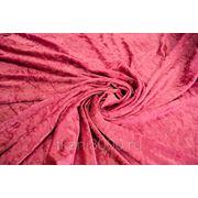 Бархат-стрейч мраморный, розовый фото