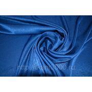 Атлас бархатный темно - синий фото