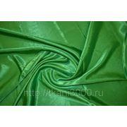 Креп-сатин зеленый фото