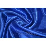 Креп-сатин синий фото