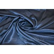 Креп-сатин темно - синий фото