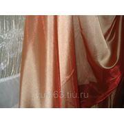 Ткань Полуорганза терракотовая фото