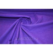 Лен - стрейч однотонный - фиолетовый фото