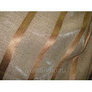 "Ткань Органза ""Соломка"", коричневая фото"