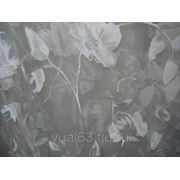 """Ткань Органза Гарден, """"белая, белые цветы"""" фото"""