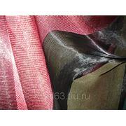 Ткань Органза полоса черная, малиновая, оливковая фото