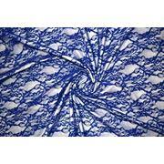Гипюр синий фото
