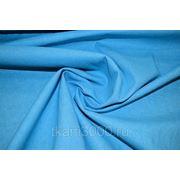Лен - стрейч однотонный - голубой фото