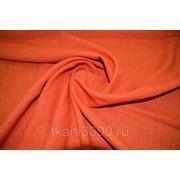 Лен - стрейч однотонный - оранжевый фото