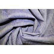 Лен меланж темно - синий фото