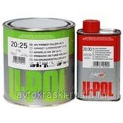 U-POL S2025/1 Грунт наполнитель 4:1 1л серый + отвердитель фото