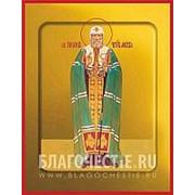 Храм Покрова Богородицы Тихон, святитель, патриарх Московский, икона на сусальном золоте (дерево 2 см с ковчегом) Высота иконы 10 см фото