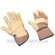 0154 Перчатки кожаные комбинированные фото