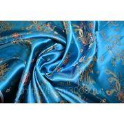 """Китайский шелк (костюмный) небесный """"Дракон"""" (ширина 120 см) фото"""