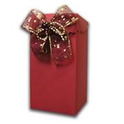 Коробка вырубная из цветного картона с бантом фото