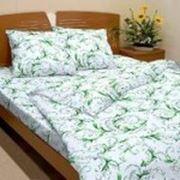 Комплект постельного белья 1,5 спальный бязь набивная ГОСТ фото