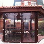 Защитные шторы для террас, веранд, беседок, уличны фото