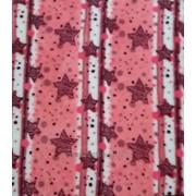 Махровая ткань (Velsoft) (Звездочки на розовом) фото