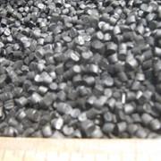 ПВД вторичный гранулированный чёрного цвета. фото