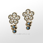 Серьги с бриллиантами E30331-3 фото