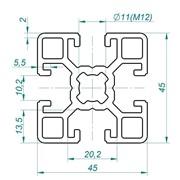Алюминиевый конструкционный профиль 45х45 фото