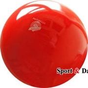Мяч красный,18см, вес 400 гр. фото
