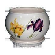 Горшок для цветов керамический Элегия Белый Ирис фото