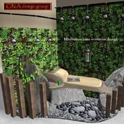 Зона медитации в интерьере или в саду фото