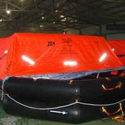 Плот спасательный надувной речной 20-ти местный,сертификат РРР фото
