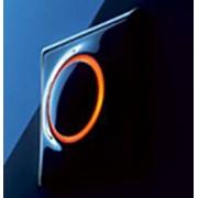 Кнопочный выключатель с подсветкой. фото