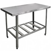 Стол нержавеющий производственный для продуктов 1000х700x600 мм фото