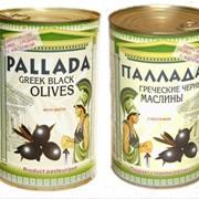 Чёрные Греческие оливки с косточкой GIANTS фото