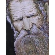 Акварель ''Старость тусклыми глазами ...'' фото