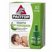Жидкость от комаров Раптор с запахом зеленого чая 30 ночей; G9576 фото